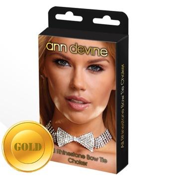 Золотистое ожерелье-бабочка из блестящих кристаллов