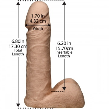"Трусики с насадкой Vac-U-Lock Set 7"" ULTRASKYN Ultra Harness - 17,3 см."