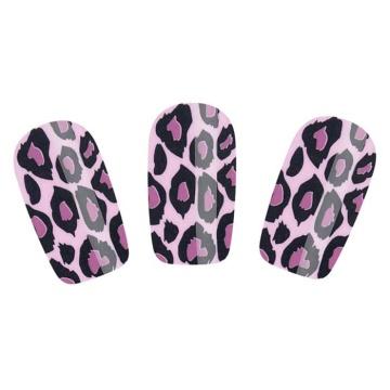 Набор лаковых полосок для ногтей Фиолетовый леопард Nail Foil