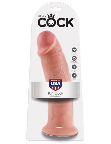"Большой фаллоимитатор 10"" Cock на присоске - 25,4 см."