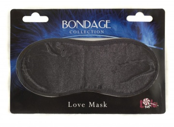 Чёрная маска на глаза BONDAGE