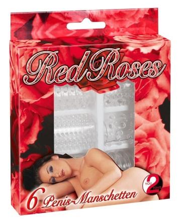 Набор из 6 насадок с шипиками Red Roses