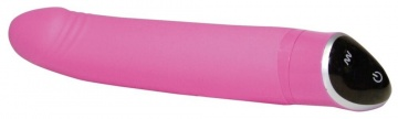 Розовый вибратор Smile Happy - 22 см.