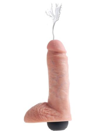 Реалистичный фаллоимитатор с эффектом семяизвержения Squirting Cock with Balls - 20,3 см.