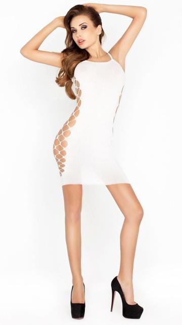 Сексуальное облегающее платье с сетевыми вставками по бокам
