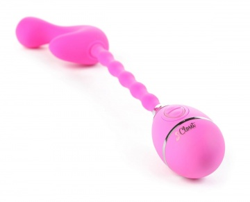 Розовый вибростимулятор на гибкой ручке THE CELINE GRIPPER