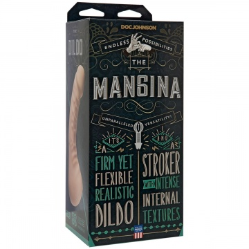 Мастурбатор с фаллоимитатором The Mangina - 24 см.