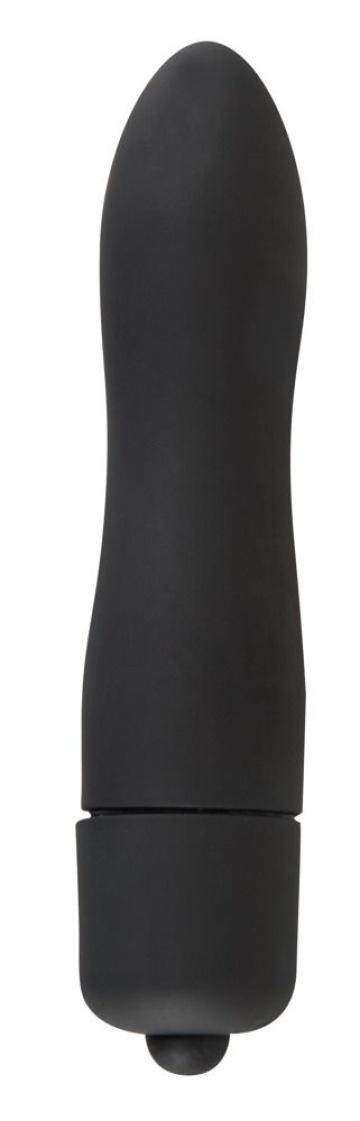 Чёрная вибропуля Mini-Vibe - 8,2 см.