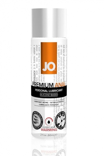 Анальный согревающий лубрикант на силиконовой основе JO Anal Premium Warming - 60 мл.