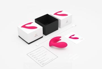 Розовый вагинально-клиторальный стимулятор MAGIC EIDOLON