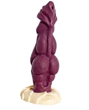 """Бордовый фаллоимитатор """"Дракон"""" - 22 см."""