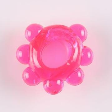 """Розовое эрекционное колечко """"Цветок"""""""