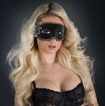 Карнавальная маска с цветком Venetian Eye Mask