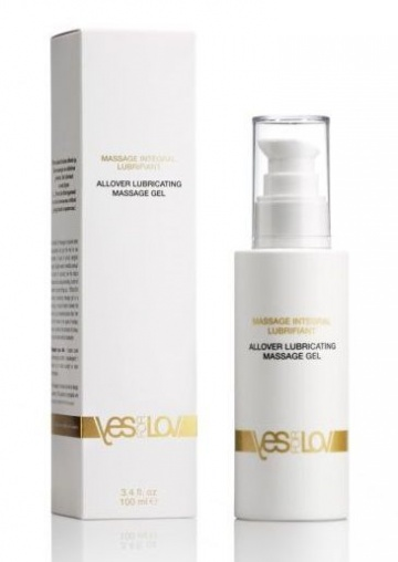 Массажный гель-смазка на силиконовой основе Allover Massage Gel - 100 мл.