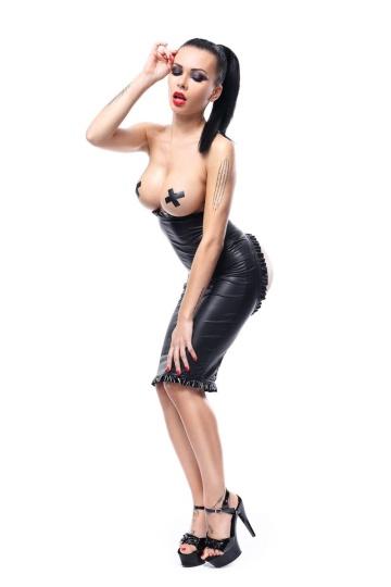 Платье Ingrid с открытой грудью и вырезом-сердцем на попке