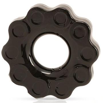 Черное эрекционное кольцо Chains